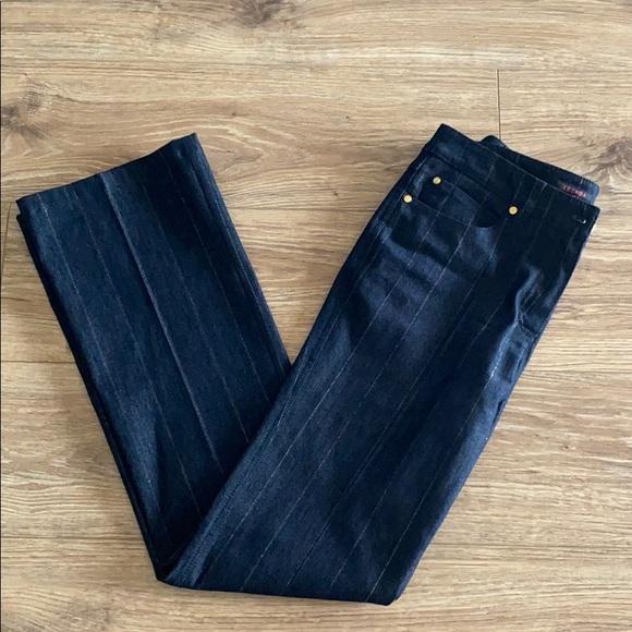 👖 Escada Gold Pin Striped Jeans 👖